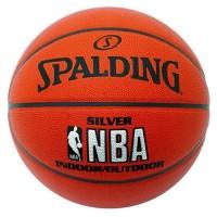Мяч баскетбольный Spalding NBA Silver Series Indoor/Outdoor - Интернет-магазин школьного и спортивного оборудования Квазар, Екатеринбург